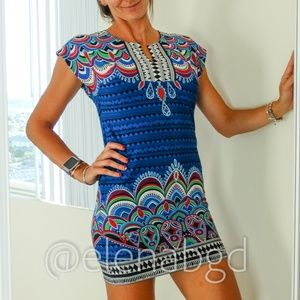 Laundry by Shelli Segal Tribal Print Mini Dress
